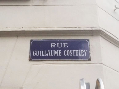 Plaque de la rue Guillaume-Costeley